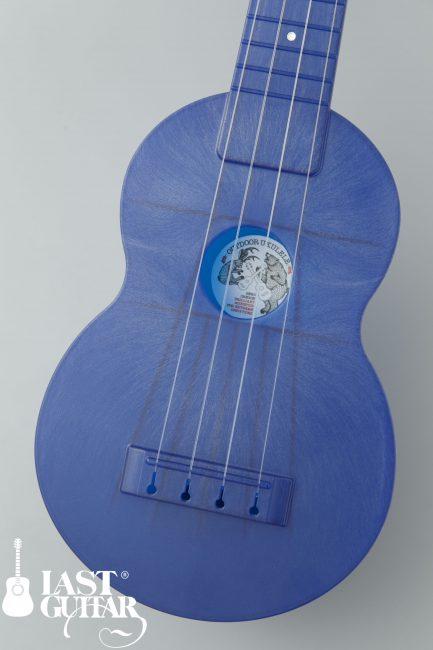Outdoor Ukulele Soprano Blue Nickel